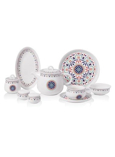 Korkmaz Aşiyan Collection 30 Parça Kahvaltı Takımı Renkli